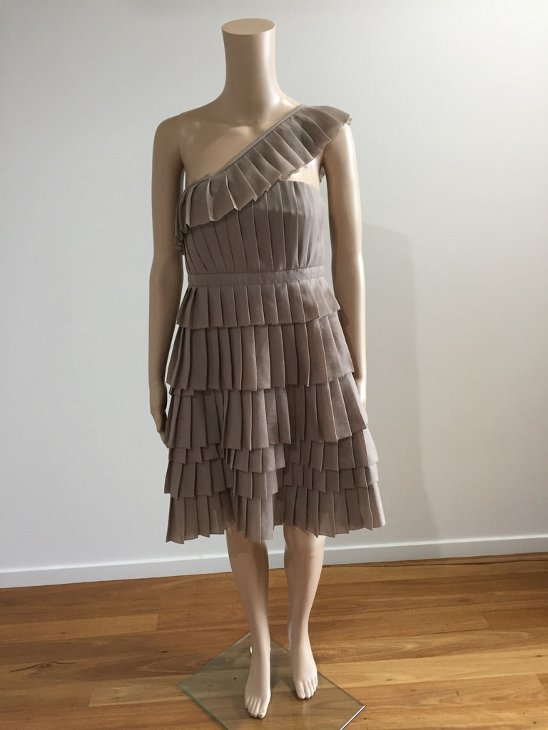 Country Road Pleated Tiered Dress