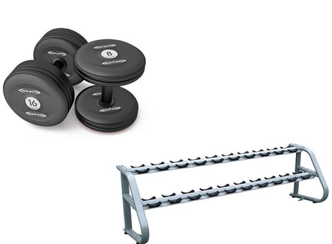 Dumbbell Set + Rack