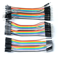 Assorted Breadboarding jumper wires DuPont connector F-M, M-M, F-F. 10cm prototyping raspberry pi