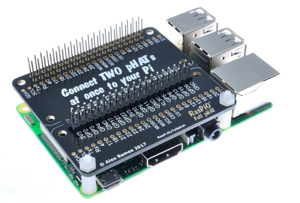 RasPiO Full pHAT on Pi3 - use two pHATs directly on your Pi