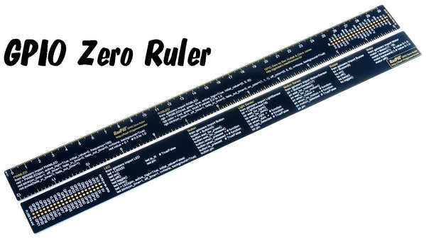 RasPiO GPIO Zero Ruler - Quick Reference for GPIO Zero