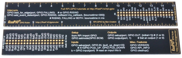 RasPiO GPIO Ruler - the RPi.GPIO code reference ruler