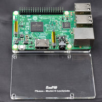 RasPiO Pibase - backplate for all 40-pin Raspberry Pi models B - colourless transparent