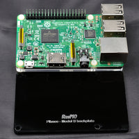 RasPiO Pibase - backplate for all 40-pin Raspberry Pi models B - black