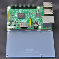 RasPiO Pibase - backplate for all 40-pin Raspberry Pi models B - blue frost