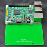 RasPiO Pibase - backplate for all 40-pin Raspberry Pi models B - green