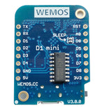Wemos D1 mini v3.0.0 bot view ESP8266