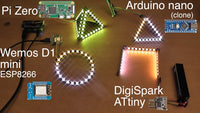 RasPiO InsPiRing - Programmable RGB LED shapes - super bright and colourful