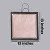 Paper bags: Chocolate w/pink (13 inches)