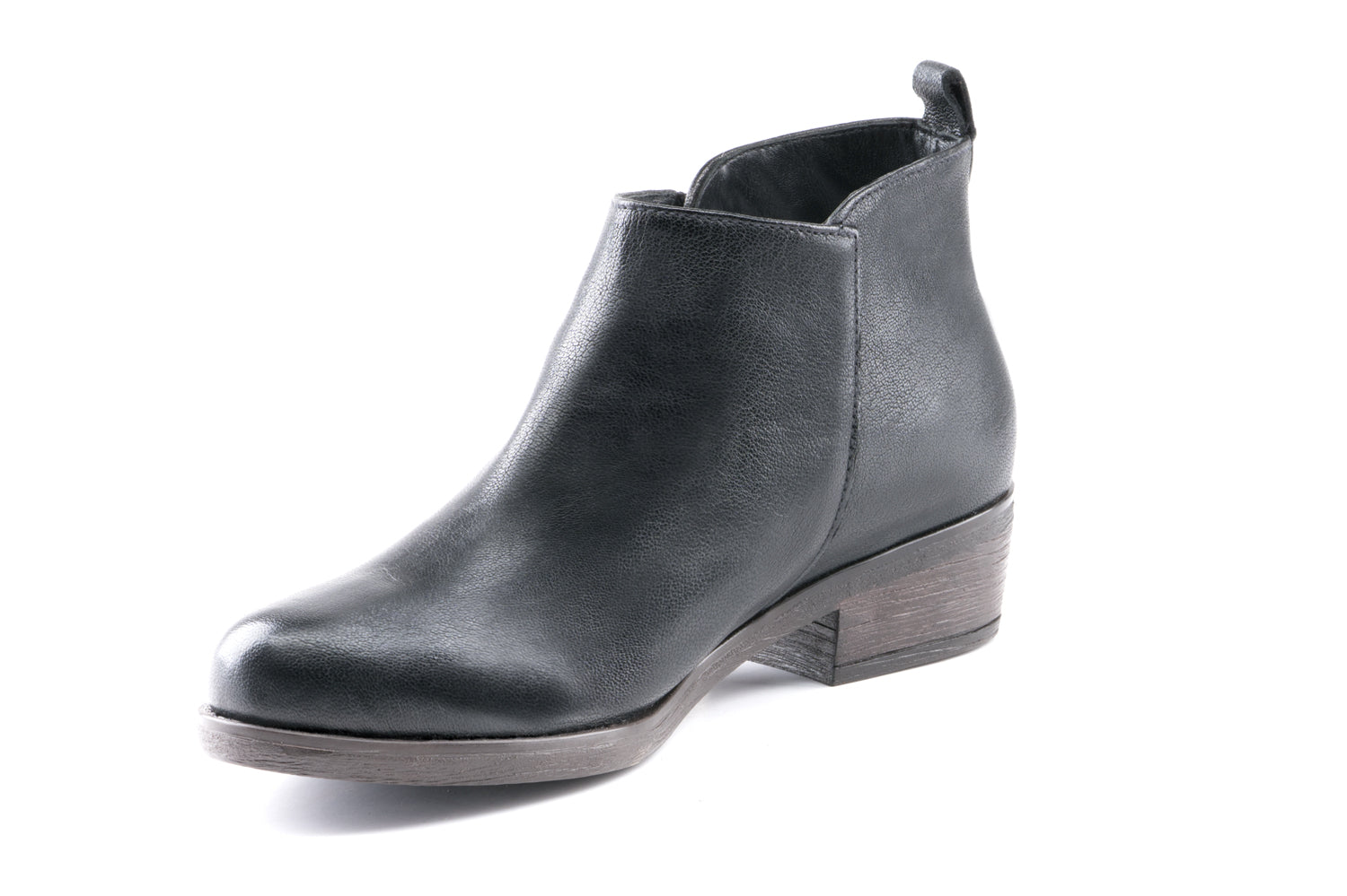 Amber Leather Ankle Bootie - Black