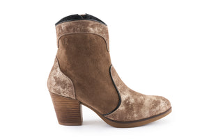 Darcie Leather Cowboy Boot - Cedar