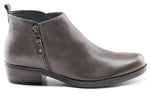 Amber Leather Ankle Bootie - Charcoal Grey