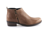 Amber Leather Ankle Bootie - Mocha