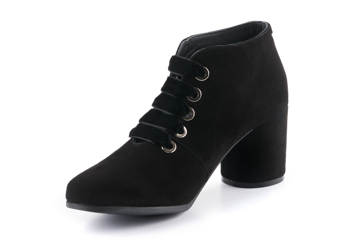 Lexi Suede Ankle Boot - Black