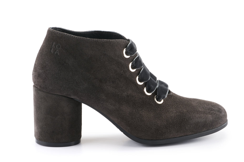 Lexi Suede Ankle Boot - Charcoal Grey