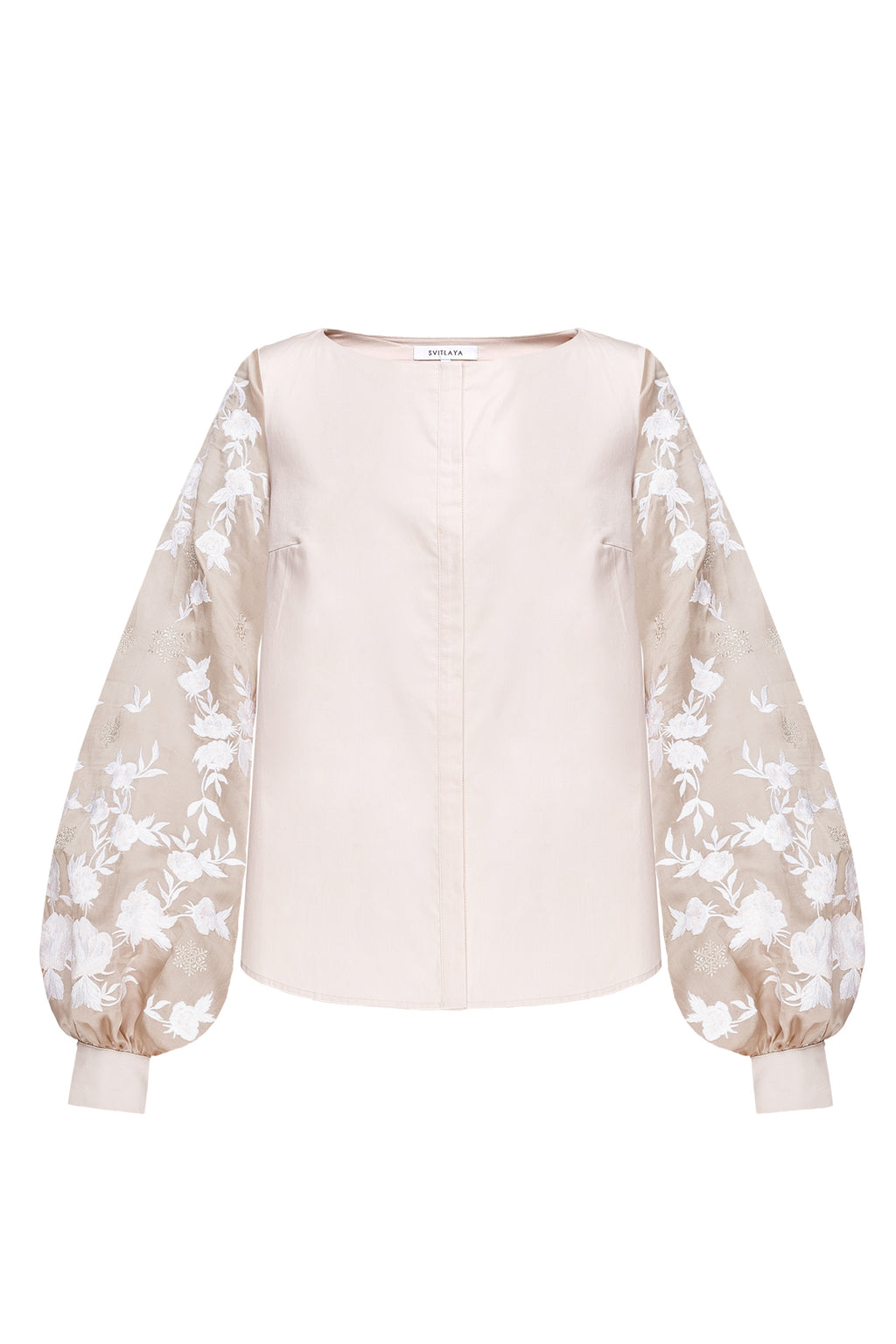 SNOW ROSE blouse in cream cotton