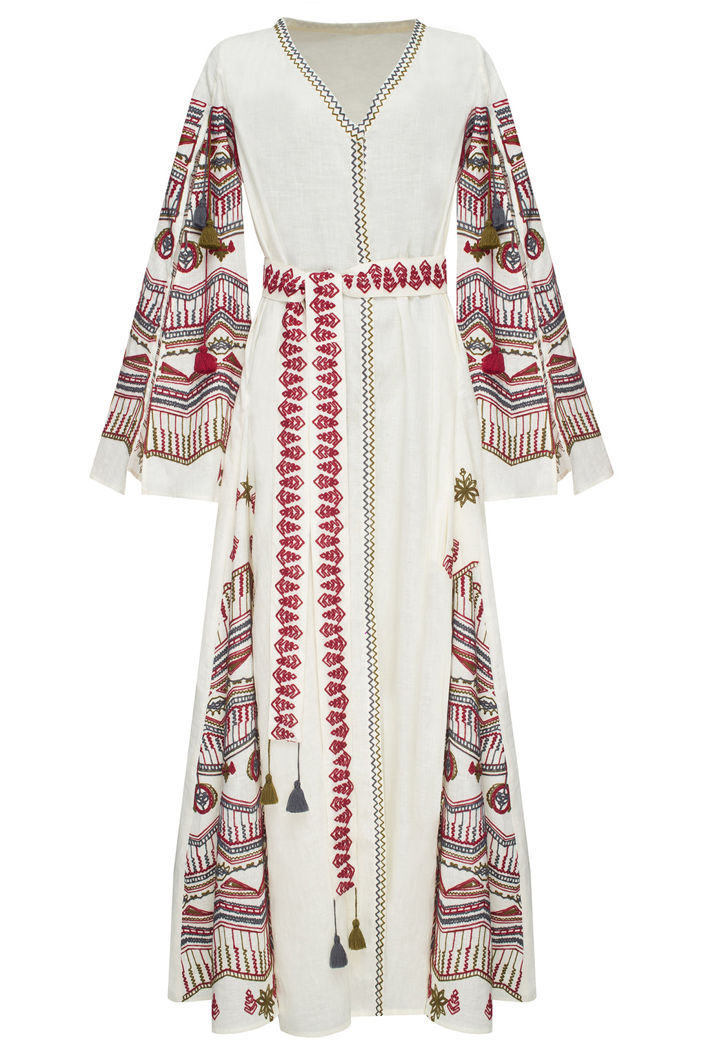 SUN RAY maxi dress in beige linen