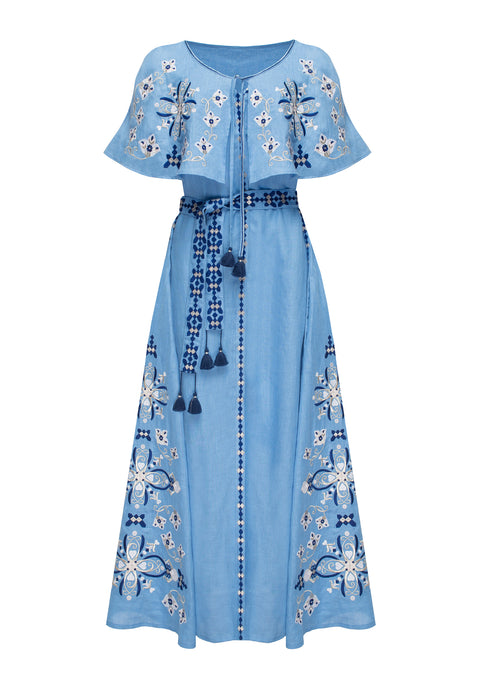 HEART midi dress in blue