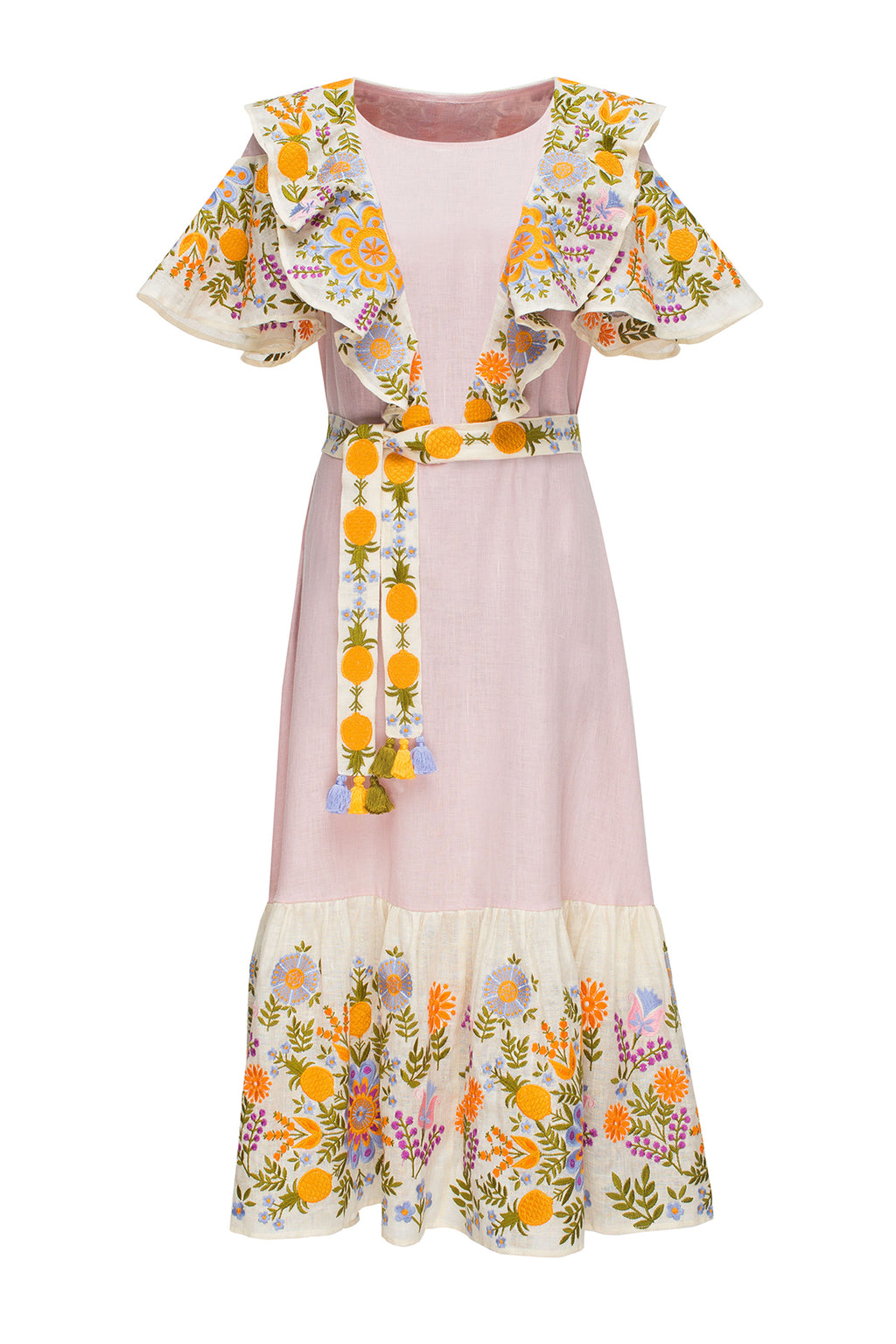 PINEAPPLE midi dress in pink/multicolor