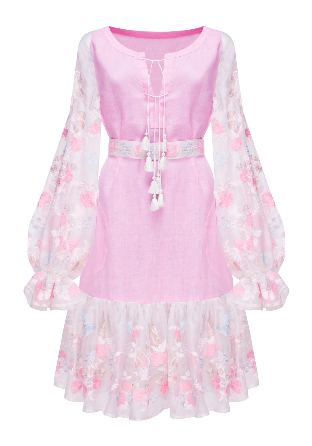 SILK ROSE mini dress in pink