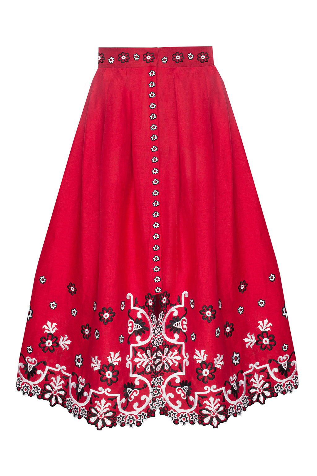 CHAMOMILE skirt in red