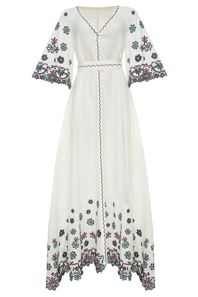 CHAMOMILE maxi dress in beige