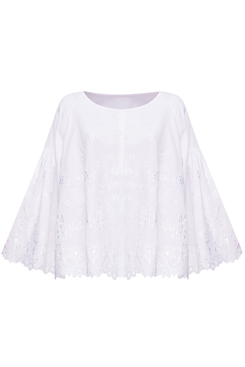 CHAMOMILE blouse in white cotton