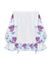 CARNATIONS BOUQUET top in white linen