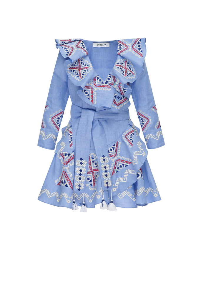 DIAMOND KIDS mini dress in blue