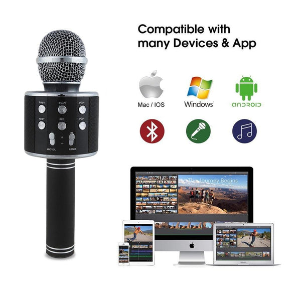 NVM05 Wireless Bluetooth Karaoke Microphone Player With Built-in Loud Speaker - Special Deal 50% off Plus FREE SHIPPING! - Amateur Home Studio