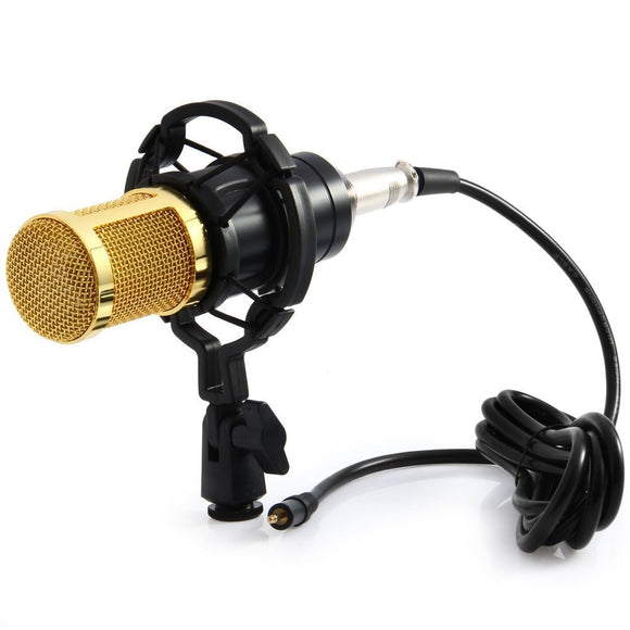 MCP01 Professional Studio Condenser Microphone With Shock Mount - Amateur Home Studio