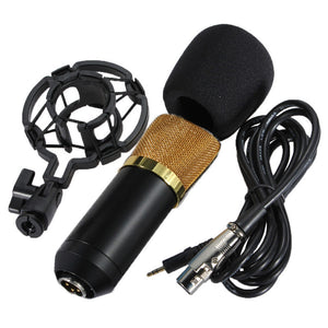 MCP02 Professional Studio Condenser Microphone With Shock Mount - Amateur Home Studio