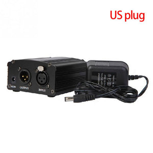 PP02 48V Microphone Phantom Power Supply Pre-amp with Power Adaptor - Amateur Home Studio