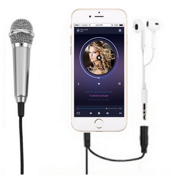 NVM03 Mini Portable Microphone for IPhone IOS And Android Smartphone - Amateur Home Studio