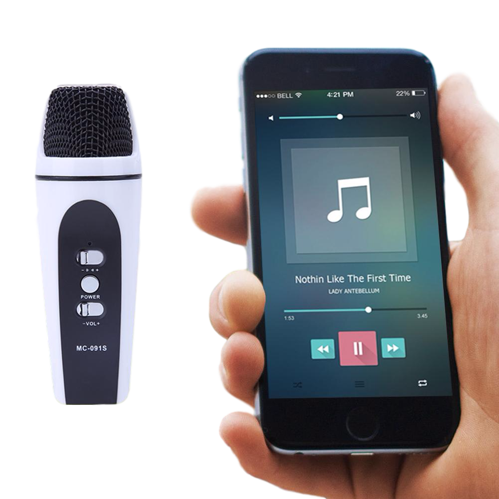 Nvm02 Mini All In One Portable Karaoke Microphone For Android Ios Smule Dengan Headset Jack 35 Phones