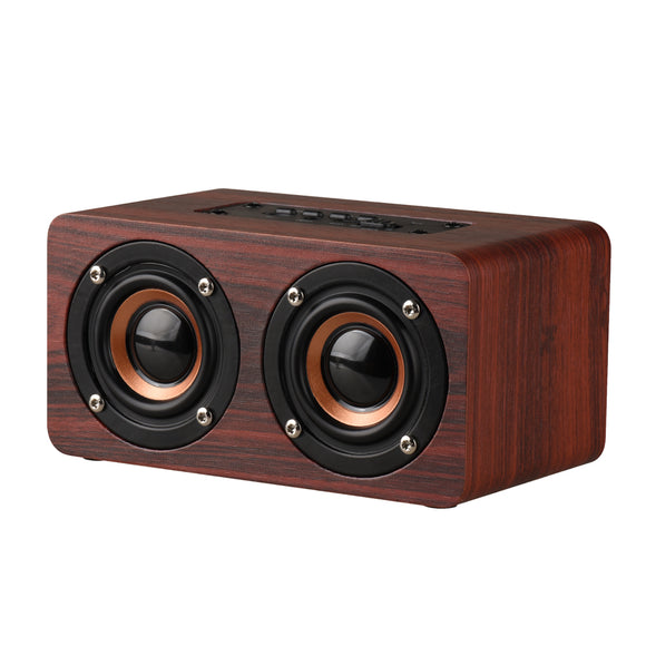 SM03 Brown Bluetooth Mini Full-range Powered Dual In-row Speaker - Amateur Home Studio