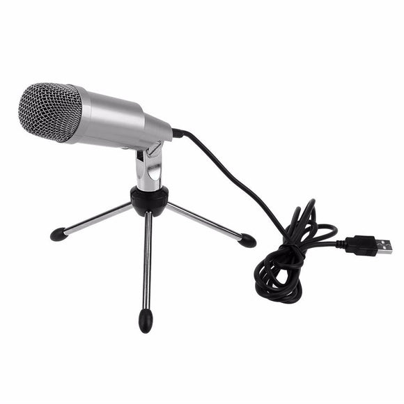 MCPU01 Professional USB Condenser Microphone with Stand - Amateur Home Studio