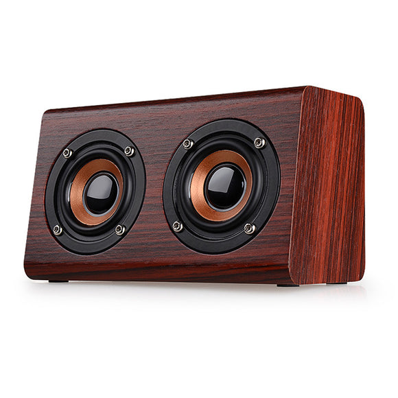 SM02 Brown Bluetooth Mini Full-range Dual In-row Speaker with hands-free speaker phone feature - Amateur Home Studio