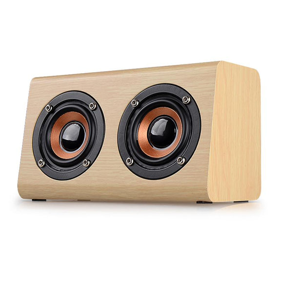 SM02 Tan Bluetooth Mini Full-range Dual In-row Speaker with hands-free speaker phone feature - Amateur Home Studio