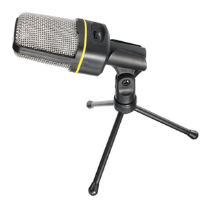 MCD01 Desktop Studio Condenser Microphone with Built-in Volume Control - Amateur Home Studio