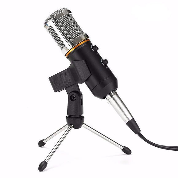 MCPU02 Omnidirectional Pro USB Condenser Microphone With Built-in Reverb and Volume Controller - Amateur Home Studio