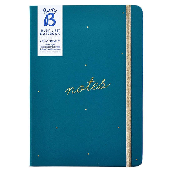 BUSY LIFE NOTEBOOK - A5 FAUX GREEN - Mrs Best Paper Co.