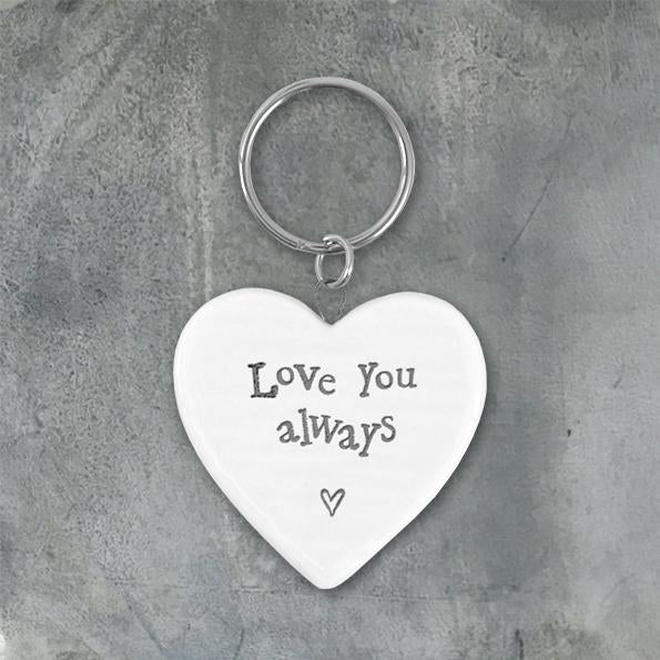 Porcelain key ring - Love you always