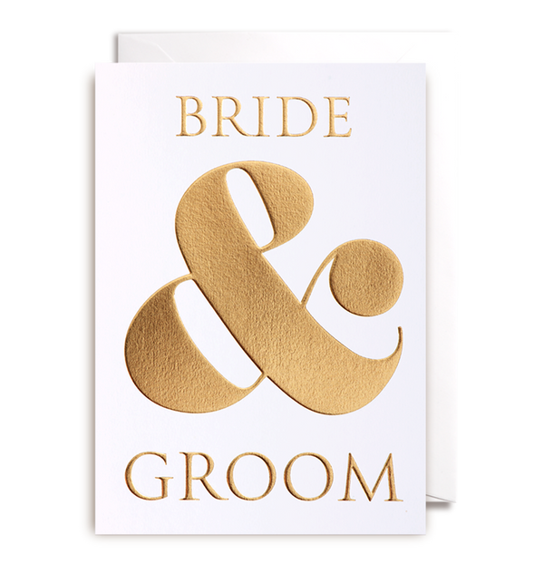 1006 Kelly Hyatt - Bride and Groom Card - Mrs Best Paper Co.