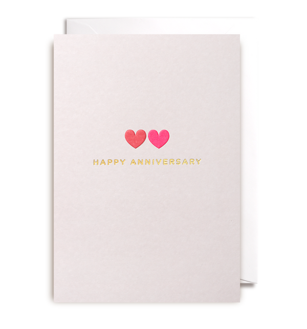 1037 Kelly Hyatt - Happy Anniversary Card - Mrs Best Paper Co.