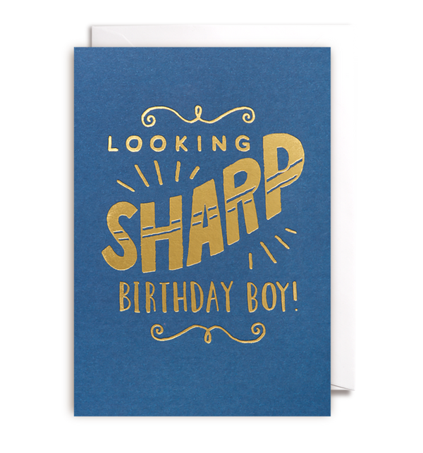 1134 Steph Baxter - Looking Sharp Birthday Boy - Mrs Best Paper Co.
