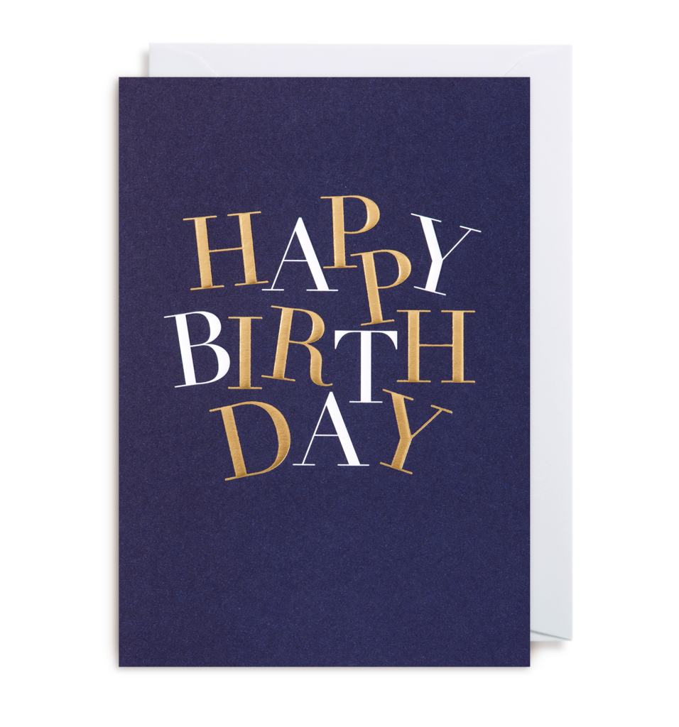 1296 Kelly Hyatt - Happy Birthday Card - Mrs Best Paper Co.