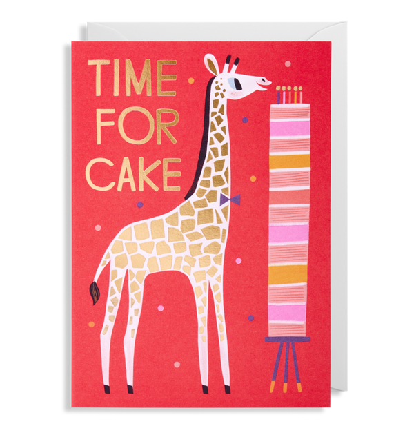 1603 Allison Black - Time for cake Greeting Card - Mrs Best Paper Co.