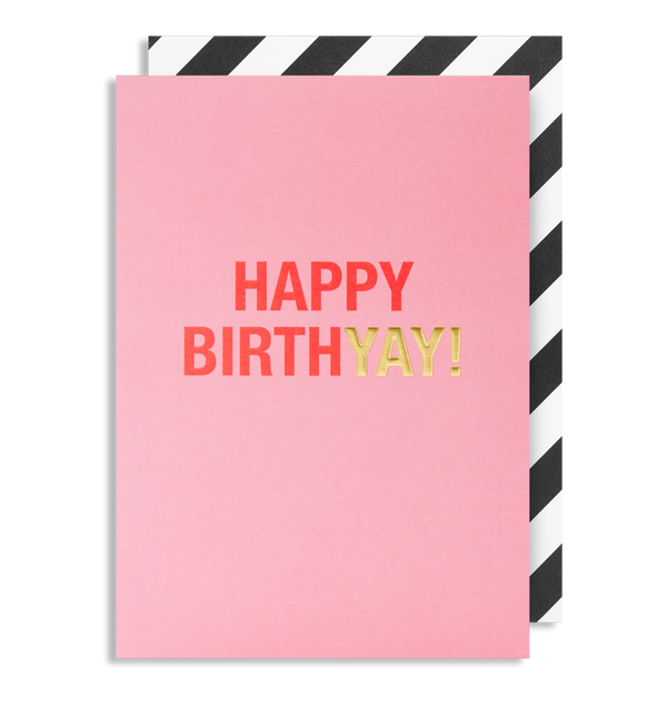 1642 Kelly Hyatt - Happy Birthyay! Greeting Card - Mrs Best Paper Co.