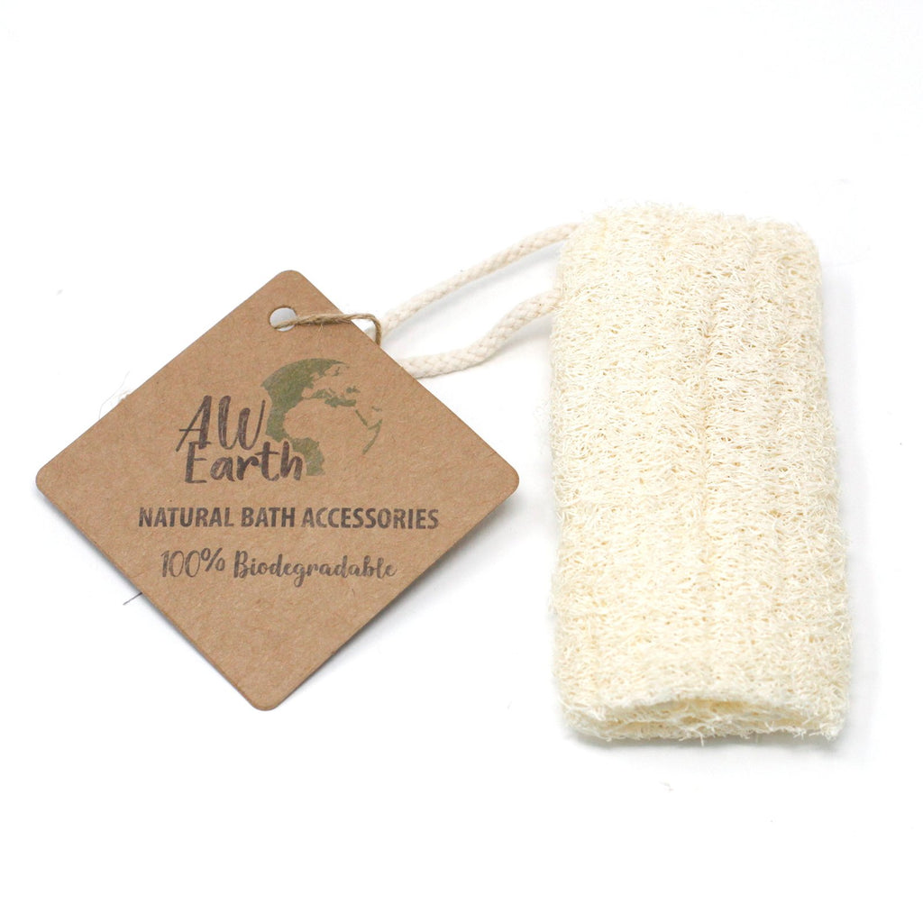 "Natural Loofah Scrub on Rope - 5"" - 12.7 cm"